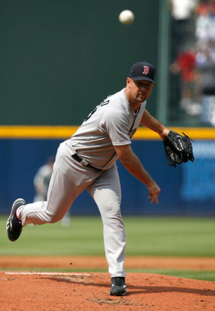 ATLANTA - JUNE 27:  Starting pitcher Tim Wakefield #49 of the Boston Red Sox against the Atlanta Braves at Turner Field on June 27, 2009 in Atlanta, Georgia.  (Photo by Kevin C. Cox/Getty Images)