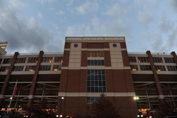 STILLWATER, OK - NOVEMBER 29:  A general view of Boone Pickens Stadium as seen before a game between the Oklahoma Sooners and the Oklahoma State Cowboys on November 29, 2008 in Stillwater, Oklahoma.  (Photo by Ronald Martinez/Getty Images)