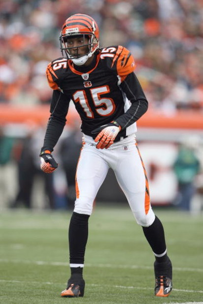 CINCINNATI - DECEMBER 14:  Chris Henry #15 of the Cincinnati Bengals gets ready on the field during the NFL game against the Washington Redskins on December 14, 2008 at Paul Brown Stadium in Cincinnati, Ohio. The Bengals won 20-13. (Photo by Andy Lyons/Ge