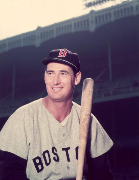 BOSTON - CIRCA 1955:  (UNDATED FILE PHOTO) Baseball legend Ted Williams (1918 - 2002) of the Boston Red Sox holds a bat circa 1955. The 83-year-old Williams, who was the last major league player to bat .400 when he hit .406 in 1941, died July 5, 2002 at C